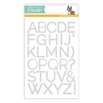 Simon Says Clear Stamps DOTTED ALPHABET sss101513 *
