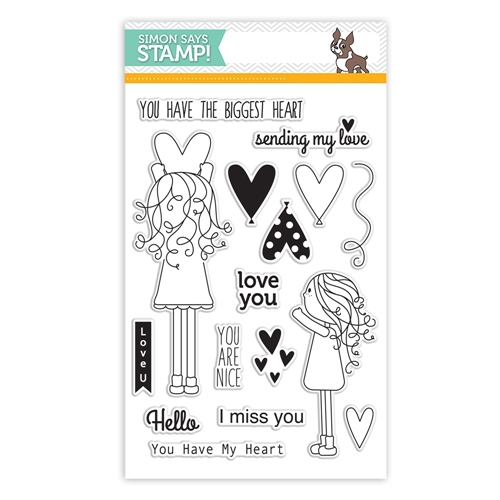 Simon Says Clear Stamps LILA'S HEART sss101531 Preview Image
