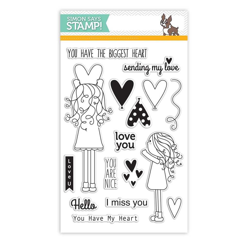 Simon Says Clear Stamps LILA'S HEART sss101531 zoom image