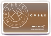 Hero Arts Ombre SOFT BROWN TO CUP O' JOE Ink Pad AF311 zoom image