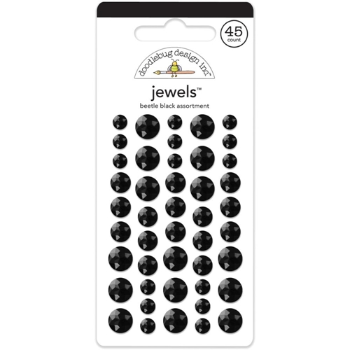 Doodlebug BEETLE BLACK JEWELS Adhesive Backed 3513 Preview Image