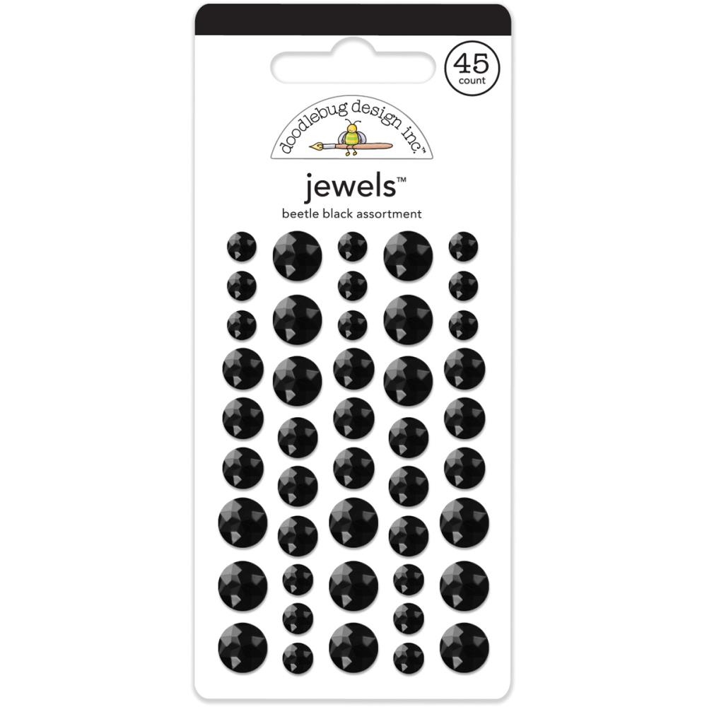 Doodlebug BEETLE BLACK JEWELS Adhesive Backed 3513 zoom image