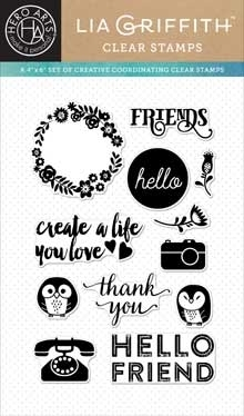 Hero Arts Clear Stamps FRIENDS BY LIA CL875 Lia Griffith zoom image