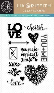 Hero Arts Clear Stamps LOVE BY LIA CL876 Lia Griffith zoom image