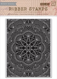 Hero Arts Cling Stamp DOILY PATTERN BasicGrey CG668 zoom image