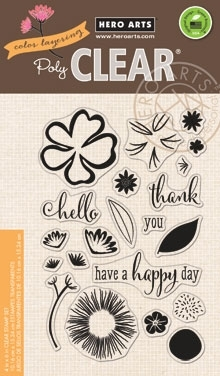 Hero Arts Clear Stamps COLOR LAYERING HAPPY DAY FLOWERS CL864 Preview Image