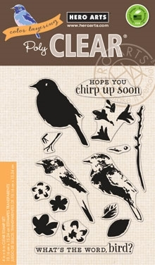 Hero Arts Clear Stamps COLOR LAYERING BIRD AND BRANCH CL866 zoom image