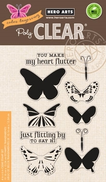 Hero Arts Clear Stamps COLOR LAYERING BUTTERFLIES CL867 Preview Image