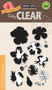 Hero Arts Clear Stamps COLOR LAYERING HIBISCUS CL868 zoom image