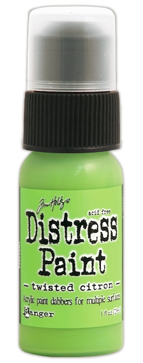 Tim Holtz Distress Paint TWISTED CITRON Ranger TDD43652 zoom image