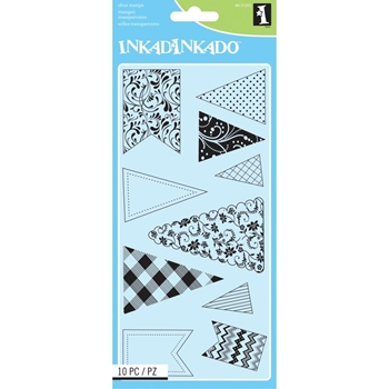 Inkadinkado BANNERS AND FLAGS Clear Stamp Set 60-31255 *
