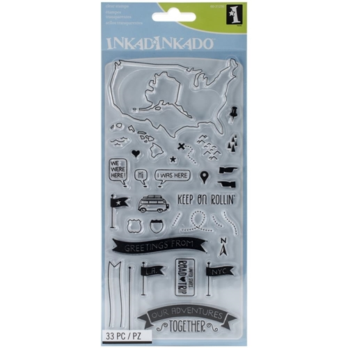 Inkadinkado OUR ADVENTURES Clear Stamp Set 60-31256* Preview Image