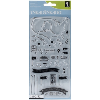 Inkadinkado OUR ADVENTURES Clear Stamp Set 60-31256