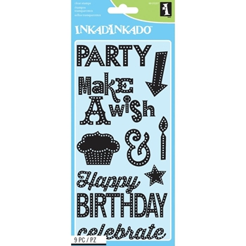 Inkadinkado MARQUEE BIRTHDAY Clear Stamp Set 60-31257