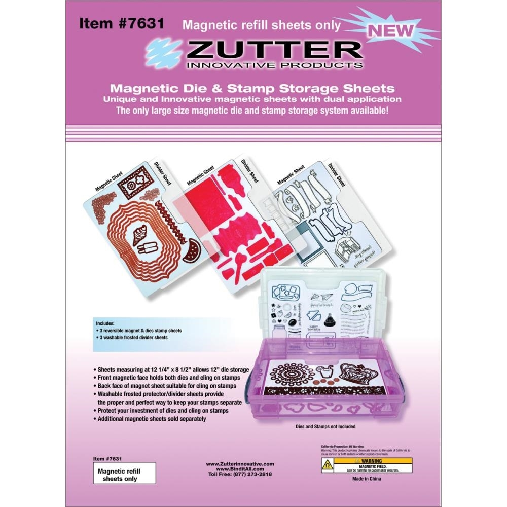 Zutter MAGNETIC DIE AND STAMP STORAGE SHEETS 7631 zoom image
