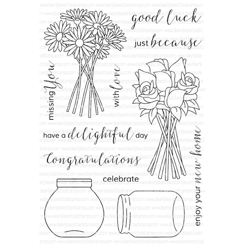 Clearly Besotted DELIGHTFUL DAY Clear Stamp Set  Preview Image
