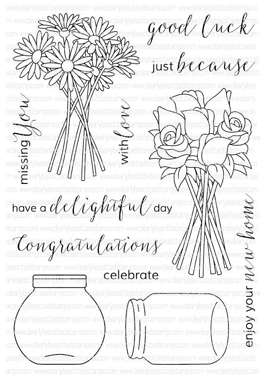 Clearly Besotted DELIGHTFUL DAY Clear Stamp Set  zoom image