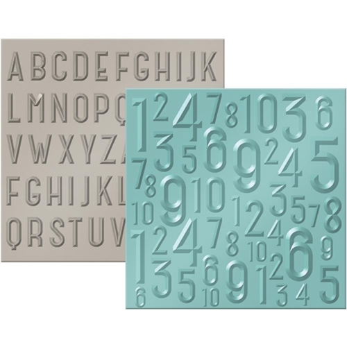 We R Memory Keepers ABC 123 Next Level Embossing Folders 662690 Preview Image