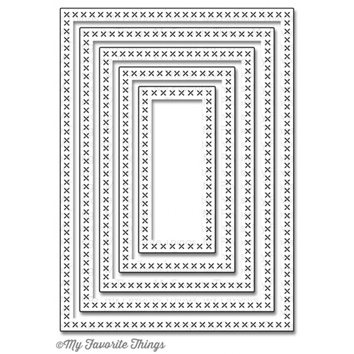My Favorite Things CROSS STITCH RECTANGLE STAX Die-Namics MFT652 Preview Image