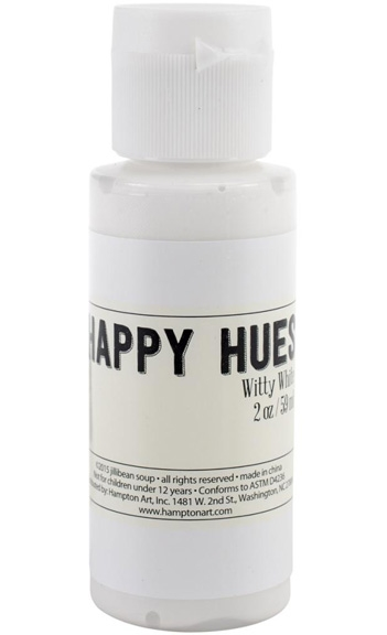 Jillibean Soup WITTY WHITE Happy Hues Acrylic Paint