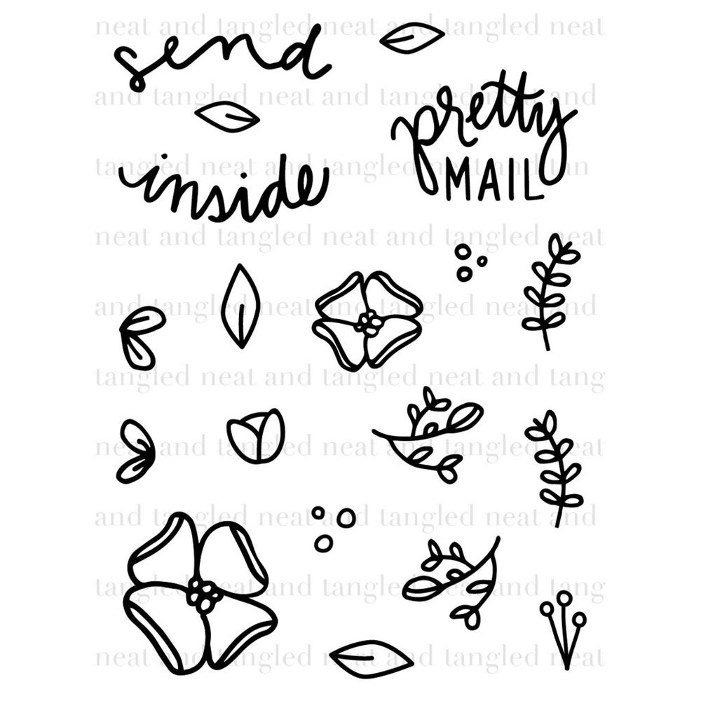 Neat and Tangled SEND PRETTY MAIL Clear Stamp Set  zoom image