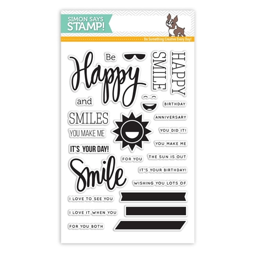 Simon Says Clear Stamps HAPPY AND SMILE sss101526 * Preview Image