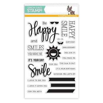 Simon Says Clear Stamps HAPPY AND SMILE sss101526 *