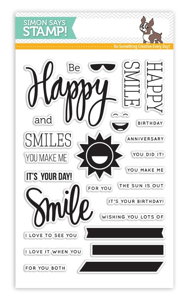 Simon Says Clear Stamps HAPPY AND SMILE sss101526 zoom image