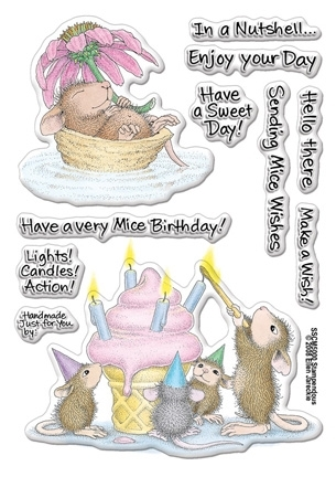 Stampendous Clear Stamps MICE WISHES House Mouse SSCM5000* Preview Image