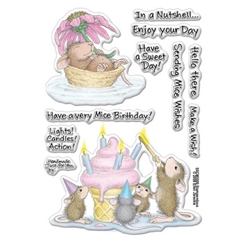 Stampendous Clear Stamps MICE WISHES House Mouse SSCM5000*