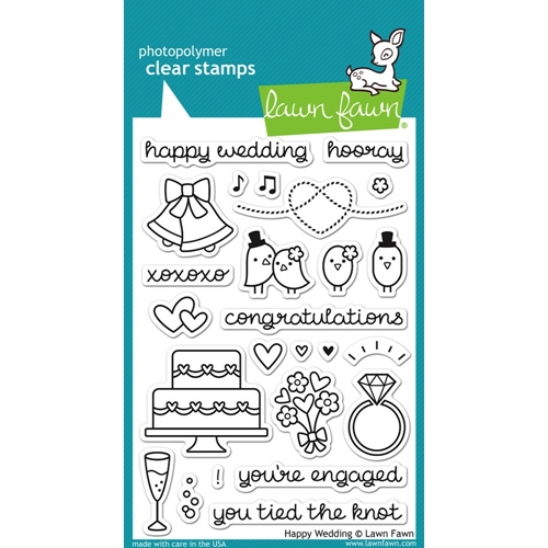 Lawn Fawn HAPPY WEDDING Clear Stamps LF887 Preview Image