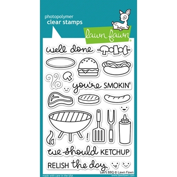 Lawn Fawn LETS BBQ Clear Stamps LF889