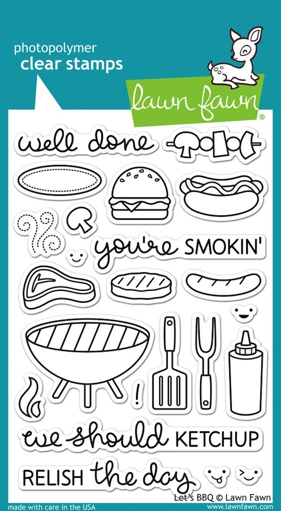 Lawn Fawn LETS BBQ Clear Stamps LF889 zoom image