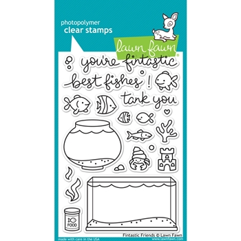 Lawn Fawn FINTASTIC FRIENDS Clear Stamps LF891