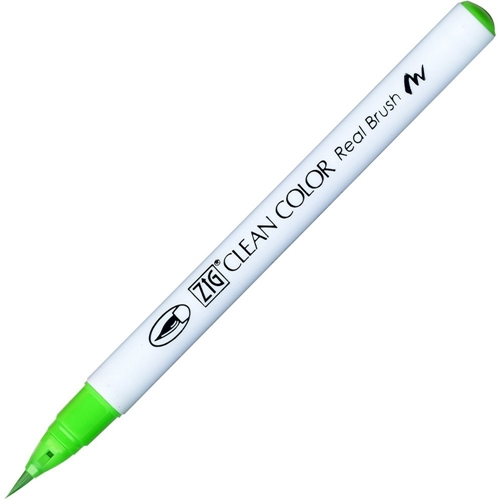 Zig Clean Color Real Brush Marker FLUORESCENT GREEN RB6000AT004 Preview Image