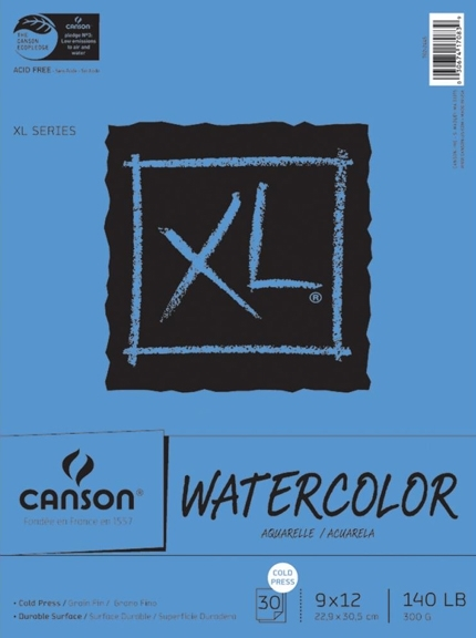 Canson XL Watercolor Paper 9x12 Pad