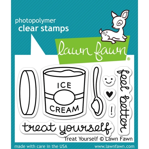 Lawn Fawn TREAT YOURSELF Clear Stamps LF897 Preview Image