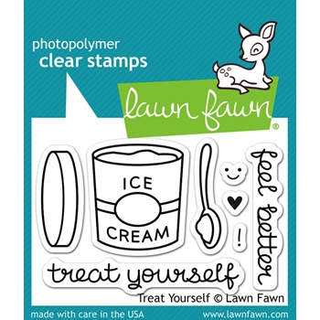 Lawn Fawn TREAT YOURSELF Clear Stamps LF897