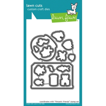 Lawn Fawn FINTASTIC FRIENDS Lawn Cuts Dies LF892