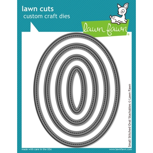 Lawn Fawn SMALL STITCHED OVAL STACKABLES Lawn Cuts Dies LF909