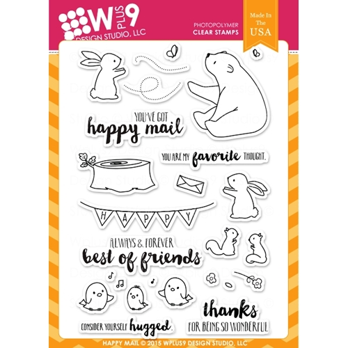 Wplus9 HAPPY MAIL Clear Stamps CLWP9HAMA Preview Image