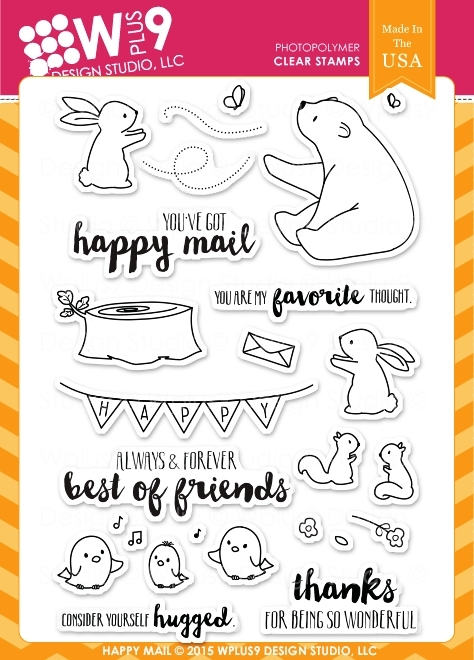 Wplus9 HAPPY MAIL Clear Stamps CLWP9HAMA zoom image