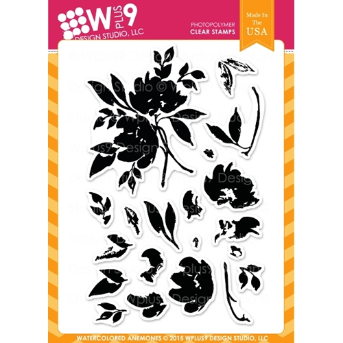 Wplus9 WATERCOLORED ANEMONES Clear Stamps CLWP9WA Preview Image