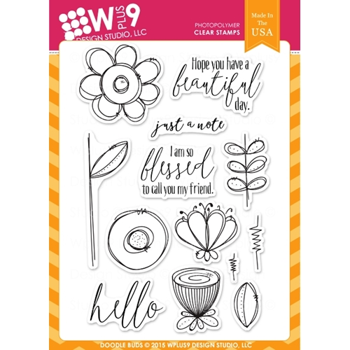 Wplus9 DOODLE BUDS Clear Stamps CLWP9DOBU Preview Image