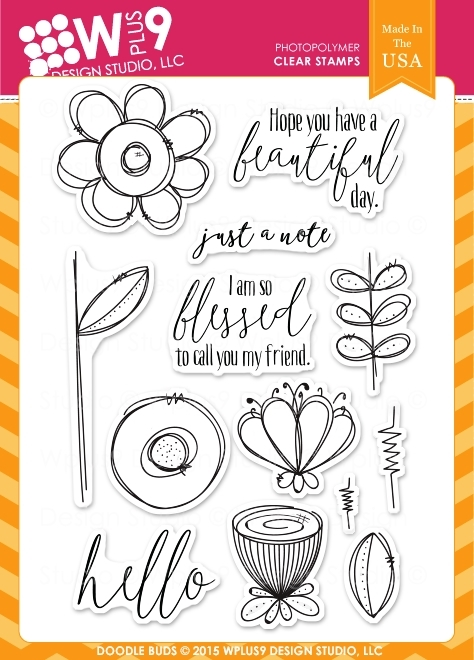 Wplus9 DOODLE BUDS Clear Stamps CLWP9DOBU zoom image