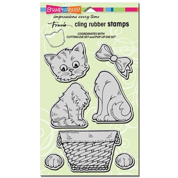Stampendous Cling Stamps POP UP KITTIES UM Rubber CRS5075