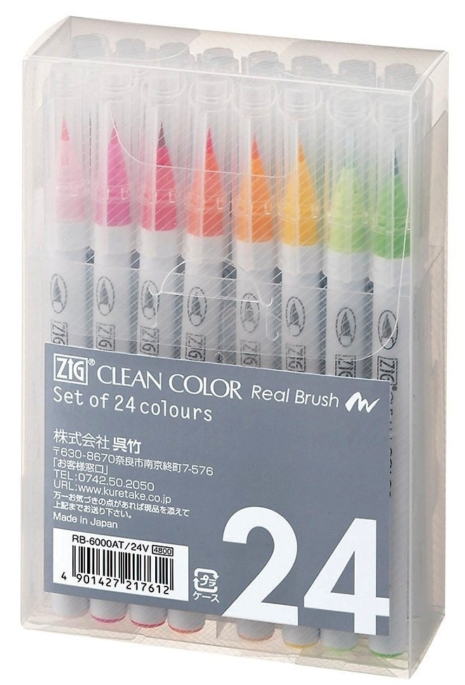 Zig CLEAN COLOR 24 SET Real Brush RB6000AT24V zoom image