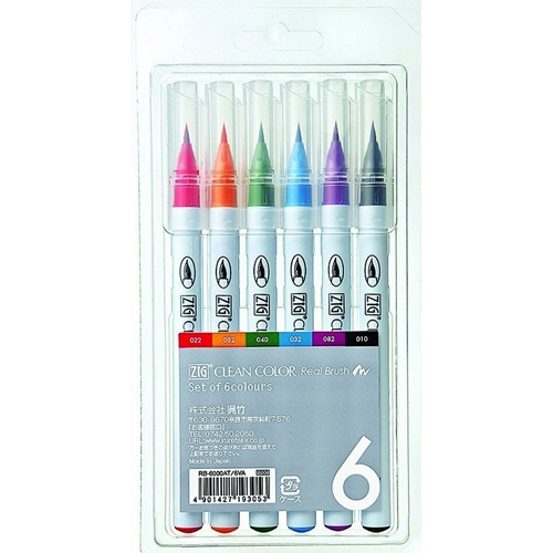 Zig CLEAN COLOR 6 SET Real Brush RB6000AT Preview Image