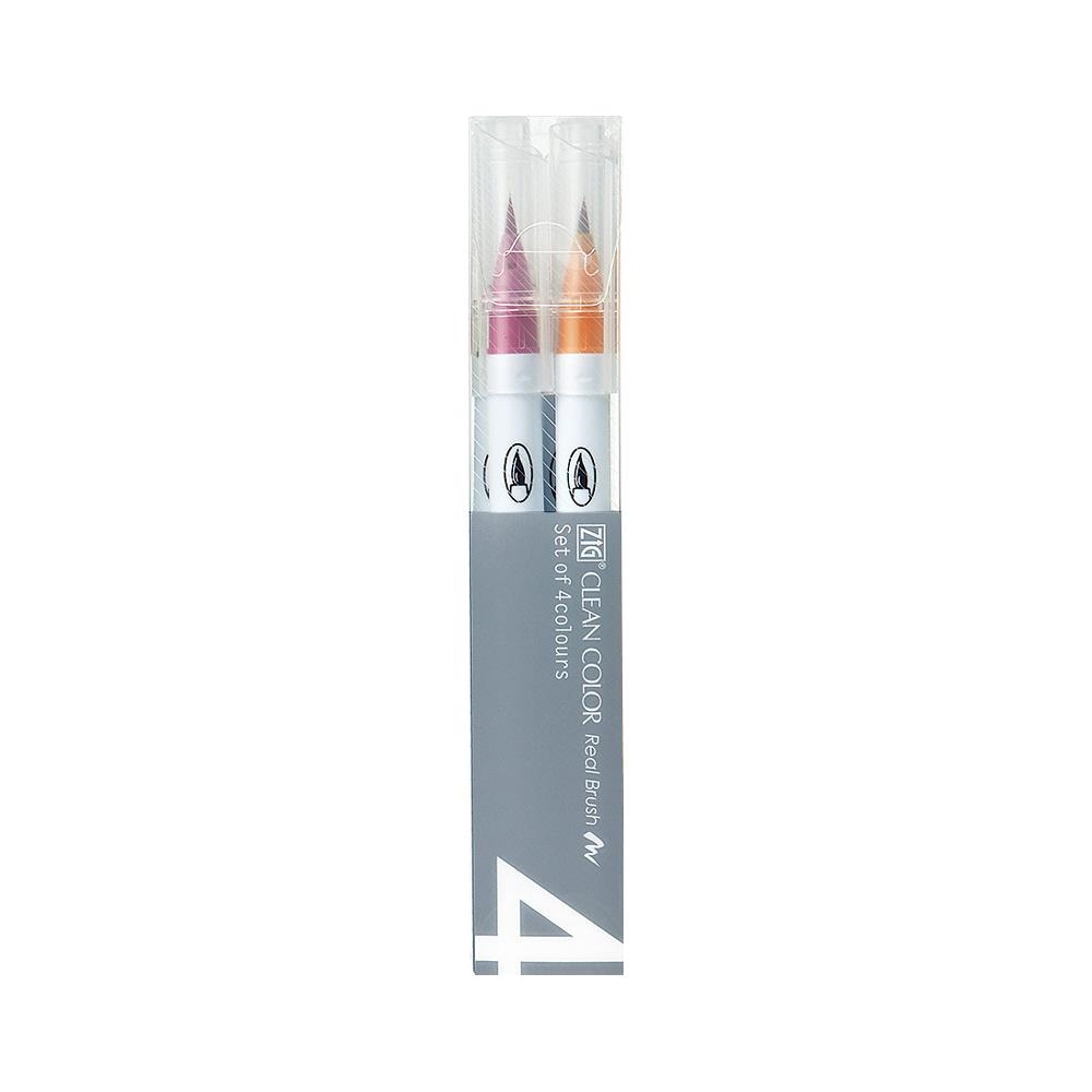 Zig CLEAN COLOR PALE 4 SET Real Brush RB6000AT4VA zoom image