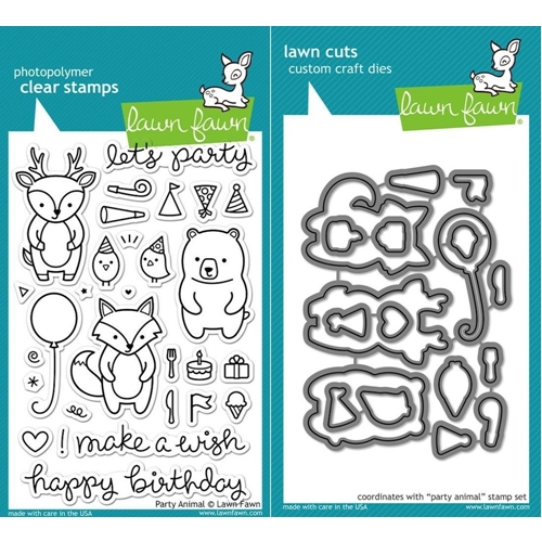 Lawn Fawn Set LF15AP ANIMAL PARTIES Clear Stamps and Dies Preview Image
